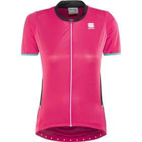 Sportful Luna Kortærmet cykeltrøje Damer, pink coral/black